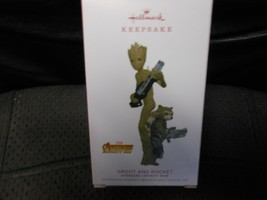 "Hallmark Keepsake ""Groot & Rocket - Avengers: Infinity"" 2018 Ornament NE... - $8.66"