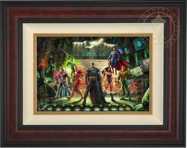 Thomas Kinkade Justice League 12 x 18 Limited Edition G/P Canvas (Framed) DC Art - $910.00