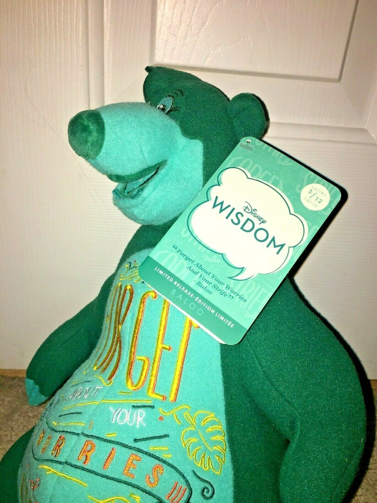 Disney Store Exclusive Wisdom Collection Baloo Plush March Limited Release