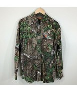 Game Winner Real Tree Mens Camo Camouflage Button Front Hunting Shirt Size S - $17.99