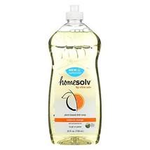 Citrasolv Homesolv Citradish Natural Dish Soap - Valencia Orange - 25 Oz -Pack o