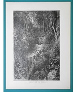 GUIANA South America Scenery on River Rosota - 1877 Wood Engraving Illus... - $8.09