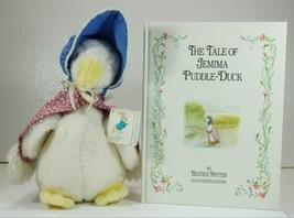Vintage Eden Beatrix Potter Jemima Puddle Duck Plush Toy & Book - $21.99
