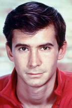 Anthony Perkins In Red Shirt 1950's Color 18x24 Poster - $23.99