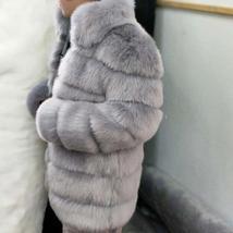 Women's Winter Luxury Fashion Faux Fur Shaggy Thicken Warm Coat image 7