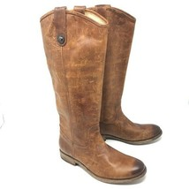 951c71d9b0b Frye Melissa Button Boot Cognac Washed Antique Size 6.5 Lether Pull On  Womens -  138.03