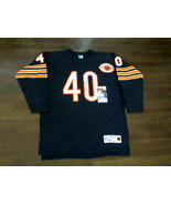 GALE SAYERS HOF CHICAGO BEARS SIGNED AUTO THROWBACK CHAMPION JERSEY JSA ... - $593.99