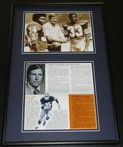 1977 Johnny Majors Pitt Panthers Football Framed Repro Brochure & Photo Set - $65.09