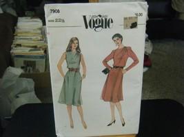 Vogue 7908 Half-Size Dress Pattern - Size 22 1/2 Bust 45 - $7.91