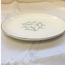 "Taylor Smith Taylor Blue Twig Dessert Plate 6.5"" Mid Century Modern dist... - $4.95"