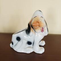 Vintage Dog Planter, Basset Hound Pot, Mid Century Japan Ceramic Puppy Flowerpot image 1