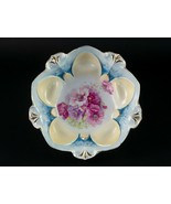 """RS Prussia Bowl Moss Rose & Daisy Floral Blue Antique 10.75"""" Signed 5 Po... - $39.20"""