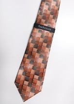 NWT VANHEUSEN TIE NECKTIE Mens 100% Silk Copper Colored - $37.66