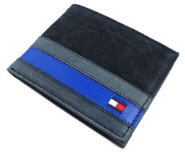 Tommy Hilfiger Men's Leather Canvas Credit Card Wallet Billfold Navy 31TL22X050 image 2