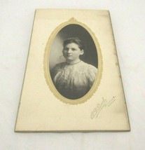 Cabinet Card Photo,Pretty Young Lady Portrait R.D. Burk 981 Woodland AVE - $6.83