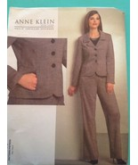 Anne Klein Pattern V1063 Jacket Pants Suit Fitted 6 8 10 12 Uncut New Vogue - $10.86