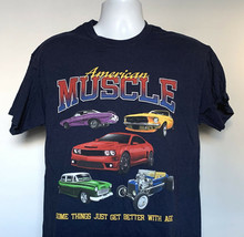 American Muscle Cars Some Things Get Better With Age T Shirt Mens Large  - $21.73