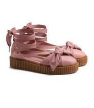 "PUMA Women's  ""FENTY-RIHANNA"" CREEPER BOW SANDALS  Pink - Size 7.5 - $46.43"