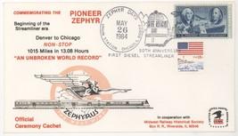 1984 Zephyr Days Denver -Chicago 1015 Miles in 13 Hours Railroad Cover! ... - $6.79
