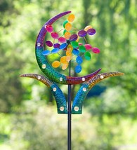 Outdoor Crescent Cup Metal Garden Wind Spinner 28 W x 4.5 D x 75 H - €146,96 EUR