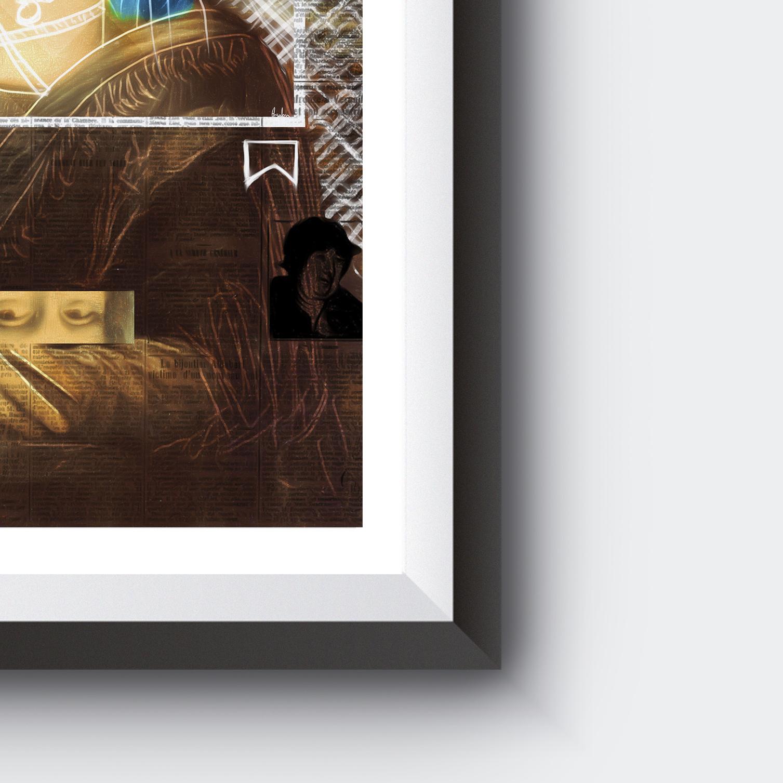 Mona Lisa Instagram Page Painting | Vandalized Painting | PRINTS | Original|#X14
