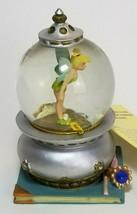 "Disney Mini Snowglobe Tinkerbell Peter Pan Snow Globe Book Ring Feather 3""  - $19.75"