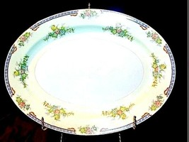 Meito China Hand Painted Serving Platter (Tray) AA18-1193M  Vintage Large