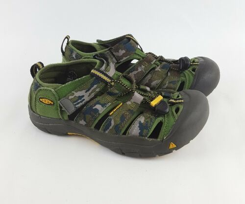 Keen Newport Sandals 4 H2 Camo Canvas Fisherman Youth Big Kids Boys