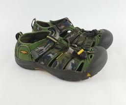 Keen Newport Sandals 4 H2 Camo Canvas Fisherman Youth Big Kids Boys - $28.04