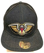 New Orleans Pelicans NBA Logo Adult Unisex Denim Mesh Trucker Cap One Si... - $29.69
