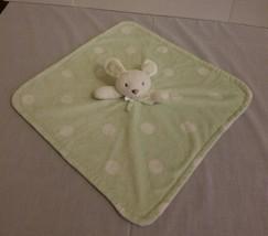 BLANKETS & BEYOND Light Green White Polka Dots Bunny Dog Lovey Blanket P... - $29.38 CAD