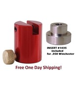 Hornady B2000 Lock-N-Load Comparator Body AND 35 INSERT #1035 for .358 Cal. - $21.70