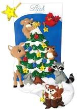 Design Works Woodland Friends Forest Animals Christmas Felt Stocking Kit 5250 - $29.95