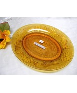 1145 Vintage Indiana Tiara Golden Amber Oval Luncheon Plate - $9.00
