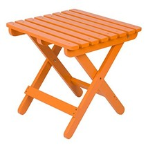 Shine Company Inc 4109TA Adirondack Square Folding Side Table, Tangerine - $49.63