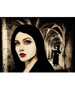 witch coven original art print hidden fortress cave dark fantasy witches... - $6.99