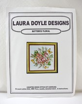 Vintage Laura Doyle Designs Butterfly Floral Counted Cross Stitch Kit - ... - $9.45