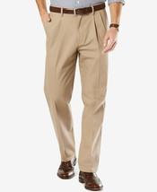 Dockers Men's Stretch Classic Fit Pleated Khaki Pants D3 40WX32L $62 - $28.99