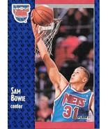 Sam Bowie ~ 1991-92 Fleer #129 ~ Nets - $0.05