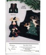 Elk's Club Elk Felt & Applique Christmas Holiday Pattern Keeping You in ... - $8.47