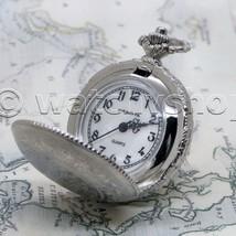 Silver Tone Nostalga Women Pendant Watch 2 Ways Key Chain and Necklace G... - $15.49