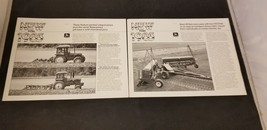 1983 Lot Of 2 John Deere Single Sheet Brochures For 1000 Plow & 515 Grai... - $9.62