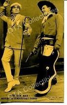 Two Gun Man Makes Tenderfoot Dance-1920-Arcade Card G - $16.30