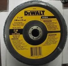 "DeWalt DW8340 7"" x 7/8"" 24 Grit Zirconia Flap Disc - $3.96"