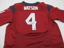 DESHAUN WATSON / HOUSTON TEXANS / AUTOGRAPHED PRO STYLE FOOTBALL JERSEY / COA - £120.98 GBP