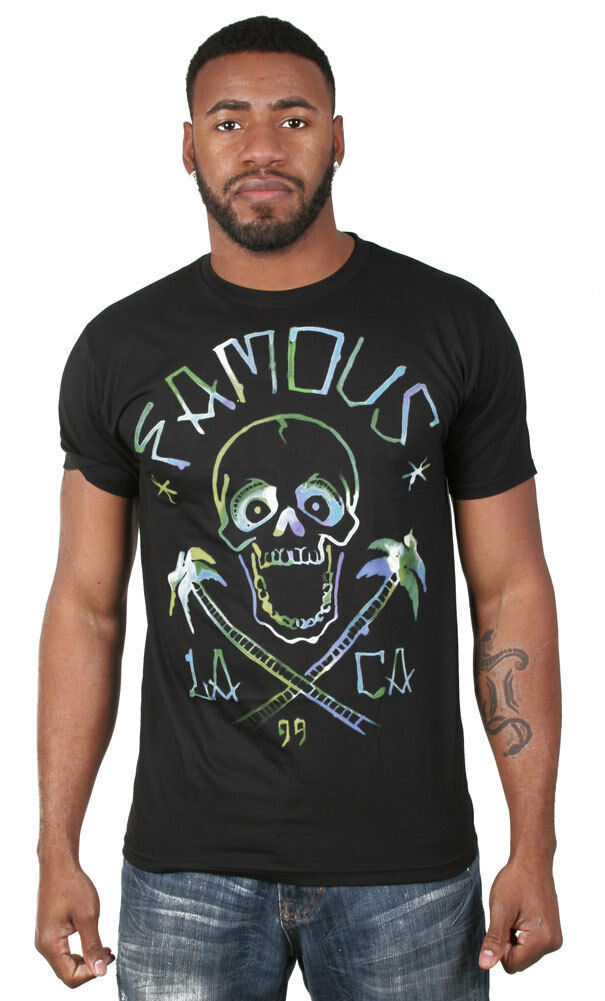 Famous Stars and Straps Life's A Beach Black Premium Tee Large