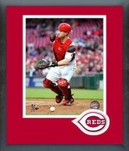 Tucker Barnhart 2016 Cincinnati Reds -11x14 Team Logo Matted/Framed Photo - $42.95