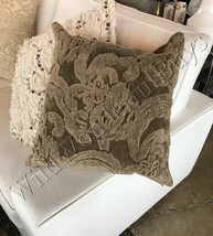 Pottery Barn Natalia Pillow Cover Dark Charcoal 16x26 NWT