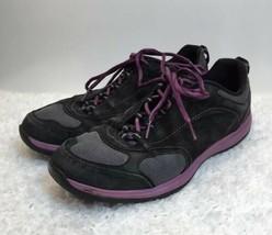 Clarks Outdoor Rock Gray/Purple Nubuck Lace Up Sneakers Shoes Men's US Size 10M - $23.11