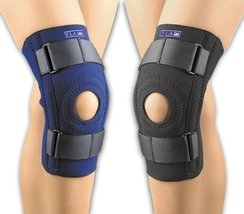 Fla Orthopedics FL37-103MDNVY SAFE-T-SPORT Neoprene Patella Stabilizing Knee Sup - $34.85
